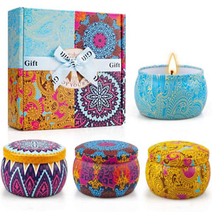 Yinuo Light Scented Candles Gifts Set for Women Aromatherapy Candles Upgraded Large Tin of Soy Candles for home Scented Lavender Candle, Gifts for Mothers Day Birthday Anniversary Bath Yoga Christmas